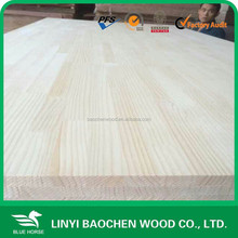 Shandong AA grade joint visiable on faces pine finger joint board for furniture/Edged glued board