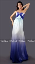 beaded sheath sweetheart white chiffon sexy backless used evening gowns 2012