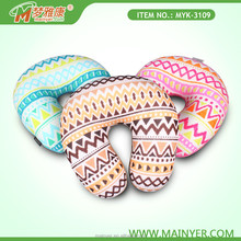 2015 New printed cheap therapeutic neck pillow filled with polystyrene beads