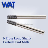 Long Shank Short Flute Finishing End Mill Cutter Sizes