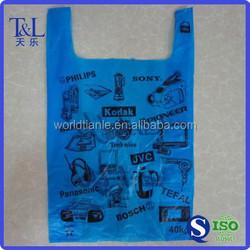 Bag! T-shirt shopping plastic bag! Cheap price printing t-shirt shopping plastic bag for food packaging