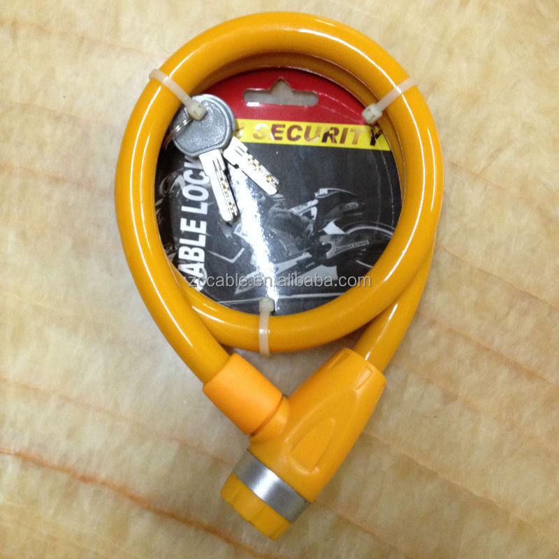 SL495 Nurbo colorful high quality cable bike lock in China