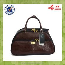 2015 fashion men's leather travel bag duffle