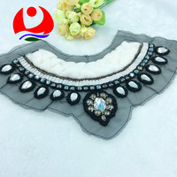 fashionable beaded apparel collar trimming Exquisite design glass stone decoration for wedding dress