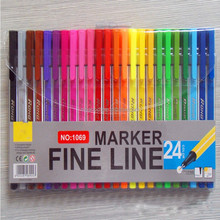High quality triangular fine liner pen assorted 24 colors