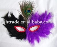 party mask factory supply feather mask for party decoration