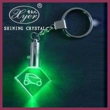 Free Artwork customized 3d laser crystal photo keychain