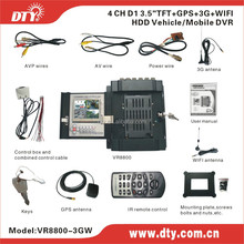 h.264 dvr firmware 4 channel gps google map speed show mdvr ,VR8800-3GW