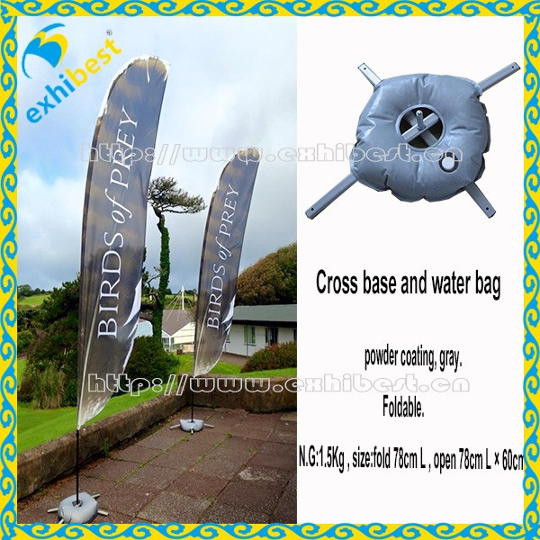 Vente chaude Réservoir D'eau pour la Plage Drapeau Rempli D'eau Base du Poteau pour Voler Bannière Pôle