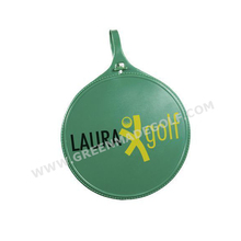 Plastic round painting logo golf bag tat, golf name tag