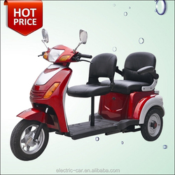 Factory direct sale red 3 wheel 2 seat adult electric mobility scooter motorcycle