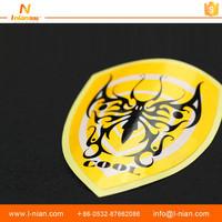 custom printing beautiful PVC vinyl reflective car logo sticker