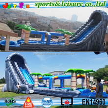 24ft tall jungle theme Giant Inflatable Water Slide for adult with long slip slide