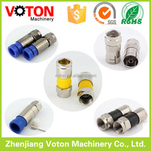 waterproof 50 ohm f connector rg6 compression f type connector