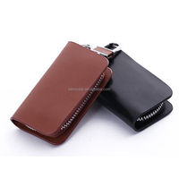 Gorgeous Smooth Leather Car Key Holder KeyChain Case Bag Cover Small Gift