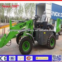1.2ton China cheap compact 4 wheel drive hydaulic mini loader