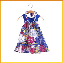 New arrival National pattern cotton bow princess dress hand embroidered dress children
