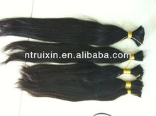 AAAAA100% pure unprocessed raw remy hair 100 percent human hair 100cm export to Poland