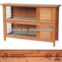 2 Storey Wooden Rabbit Cottage DFR038