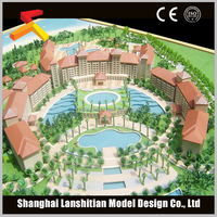 Home decoration resin miniature building model