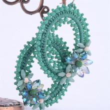 Beautiful flower shaped colored hoop earrings wholesale new charming bali hoop earrings 2015