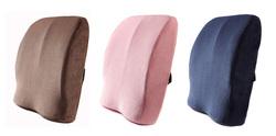 Memory Foam Lumbar Support Cushion Back Cushion with 3d Ventilative Mesh Cover