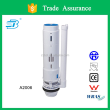 Two piece toilet outlet valve with steady volume (A2006-2)