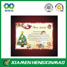 Paper & Paperboard Product Material and Offset Printing Printing Type Christmas greeting cards
