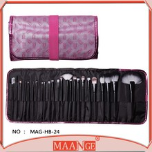 2015 HOT Sale Professional 24 pcs Makeup Brush Set tools Make-up Toiletry Kit Wool Brand Make Up Brush Set Case