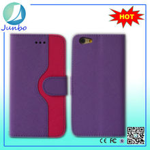 China supplier wallet design mobile phone 6 plus leather case