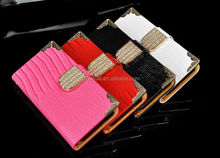 Luxury New Shining Flip PU Leather Bling Cover Card Wallet Case For iPhone 6