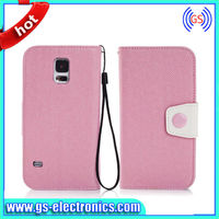 New colorful book style flip cover case with card slots for samsung galaxy S5 I9600