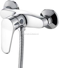 Creative Design Wall Mount Bathroom Sink Faucet Chrome Widespread Bath Mixer Tap