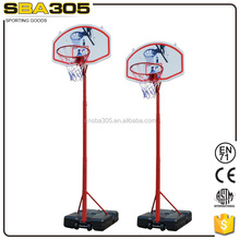 movable basketball stand for kids with basketball pole and backboard