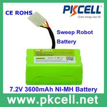 7.2v ni-mh 3600mah robot spazzatrice di vuoto batterie