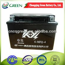 6-MFQ-4 Maintenance free lifan motorcycle accessories12v 4ah motorcycle battery,12v mf motorcycle battery