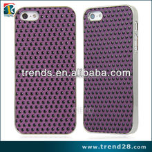 hoe selling pu dots wallet pc case for iphone5