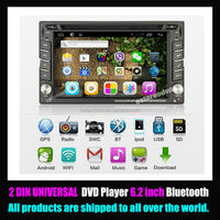 6.2 inch Touch Screen 2 din In-dash Android Car DVD Car PC with Wifi 3G