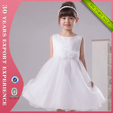 2015 New White Ball Gown Tulle Bow Flower Girl Dress Patterns