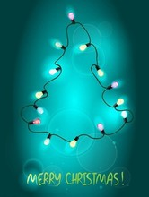 Christmas LED lamp decorating string , tree lamp IP54 outdoor