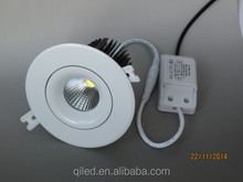 mini suspended 2.5 inch 10W recessed round COB led 10W mini ceiling light aluminum housing and glass cover