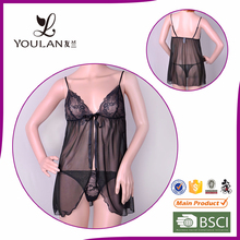 New Style Tight Young Girl Lace Sexy Nighty Dress Sleeping Wear