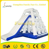 0.9mm thickness material airtight inflatable Jungle Jim for water slide
