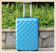 Diamond stripe abs suitcase with wheels stock suitcase