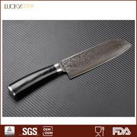 Damascus santoku knife handmade japanese knife