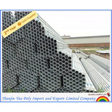 hollow section pre galvanized steel pipes round pipes 55