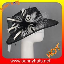 hot sale fashion sinamay wedding hat