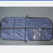 Travel foldable garment bag with ID card holder,factory OEM suit cover bag