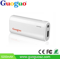 Guoguo Factory price hand crank colorful Portable power bank 4000mah LED light for telephone