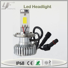 led machine headlight for jeep wrangler , car led head lamp h4